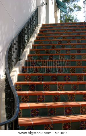 Ojai Spanish Tile Steps
