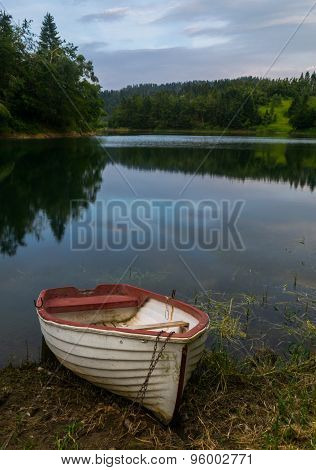 Boat on River bank