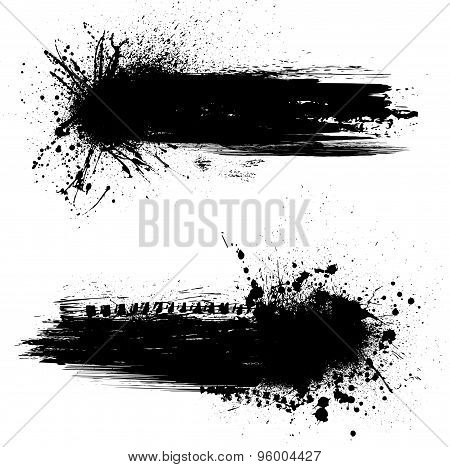 Ink blots banners