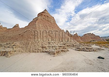 Badlands Escarpments Against Changing Skies