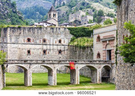 fortress in Vinadio, Piedmont, Italy