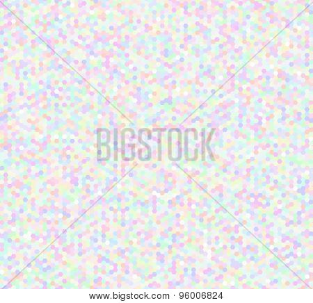 Seamless Pattern Background, Noise Texture, Hexagonal Shapes, Pastel Colored