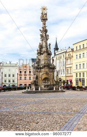 Column of Holy Trinity, Namesti Miru, Jindrichuv Hradec, Czech Republic