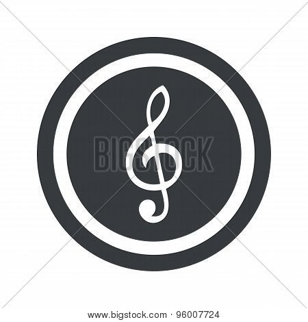 Round black music sign