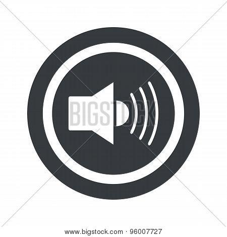 Round black sound sign