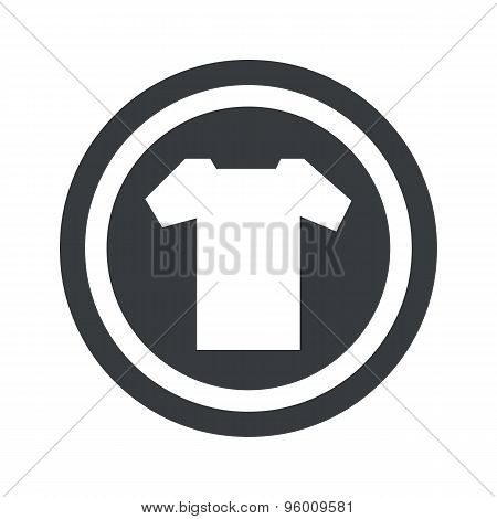 Round black T-shirt sign