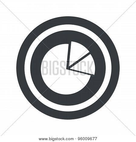 Round black diagram sign