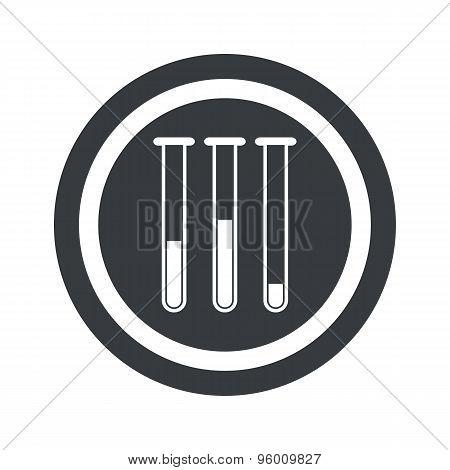 Round black test-tubes sign