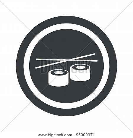 Round black sushi sign