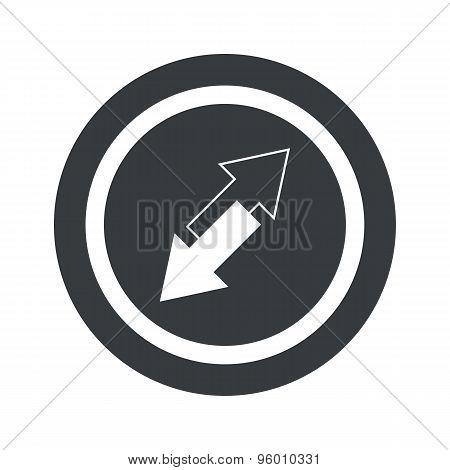 Round black opposite sign