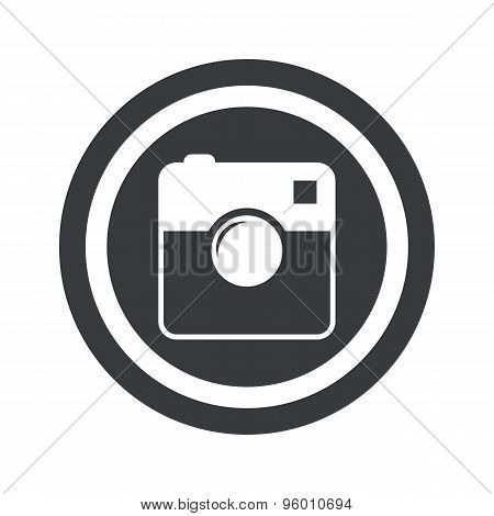 Round black square camera sign