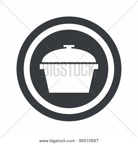 Round black pot sign