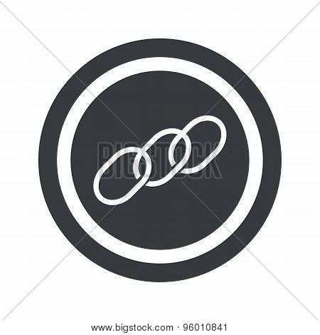 Round black chain sign
