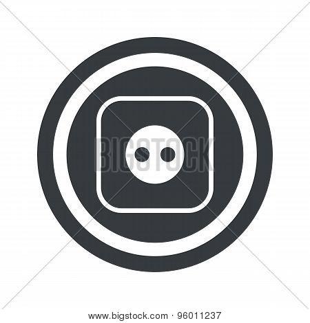 Round black socket sign