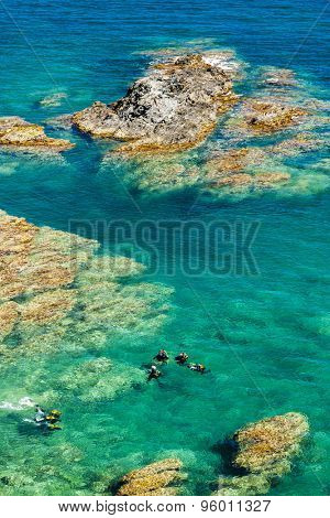 divers, Cap de Peyrefite, Languedoc-Roussillon, France