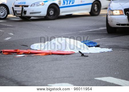 Covered body of bicyclist