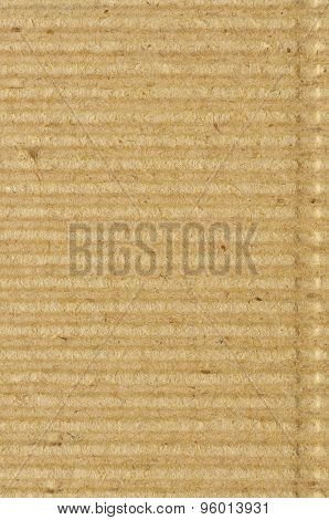 Corrugated Cardboard Goffer Paper Texture, Bright Rough Old Recycled Goffered Crimped Textured Blank