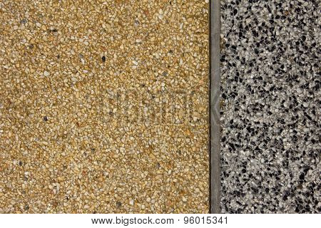 Wall With Rounded Pebble Stone