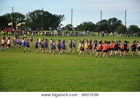 Minnesota High School Girls Start The Roy Griak Invitational Cross Country Race