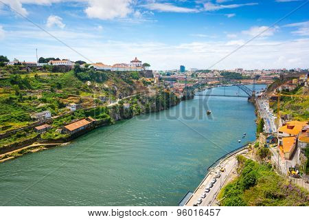 Porto, Portugal old town skyline on the Douro River