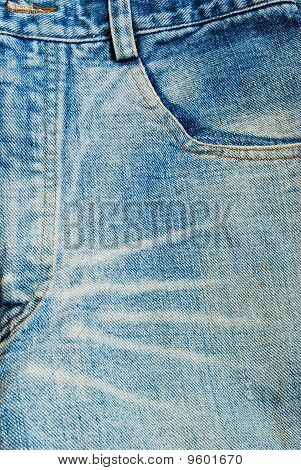 Blue Jeans Front Pocket Background Texture