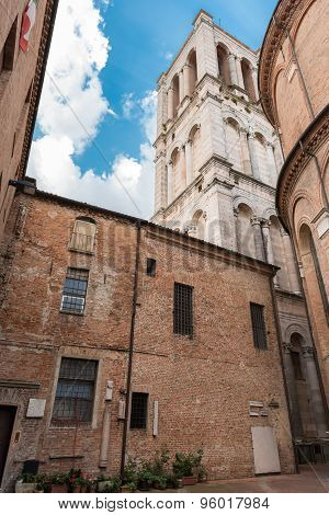Ancient Cathedral In The Downtown Of Ferrara City