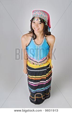 Chinese Minority Nationality Girl