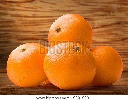 Tangerine On Wood