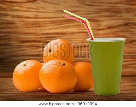 Tangerines With Paper Cup