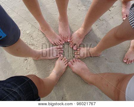 Teenagers Foot on Beach
