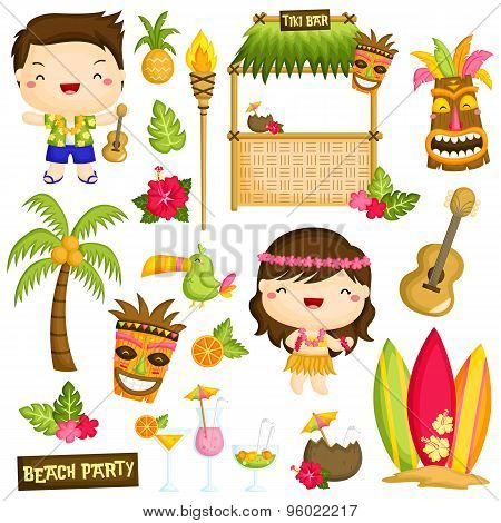 Hawaii vector set