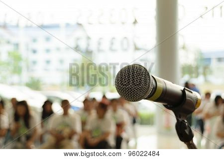 Microphone In Seminar Event