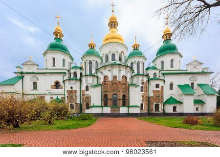Saint Sophia Cathedral In Kiev, Ukraine.