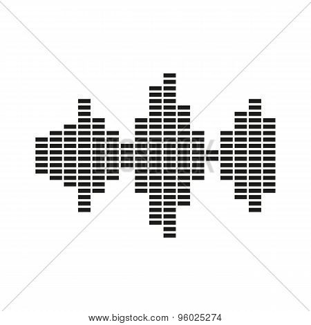 The sound wave and equalizer icon. Audio, radio symbol. Flat