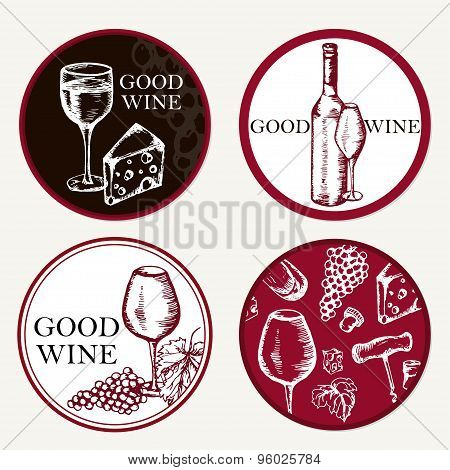 Good Wine. Retro Card Or Flyer.