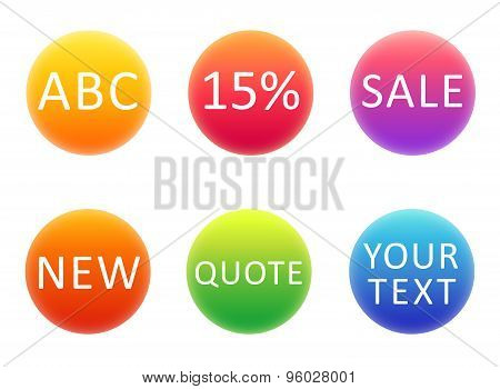 Colorful Gradient Circles, Template For Your Text