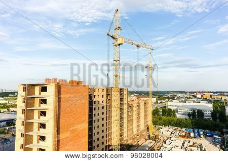 View on construction site in Tyumen