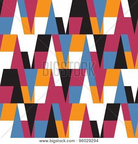 Bright Colorful Geometric Seamless Pattern.