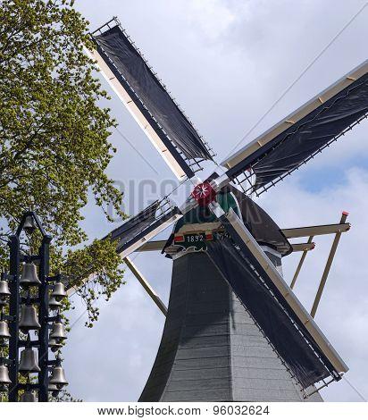 Windmill In Keukenhof Garden