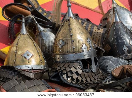 Cracow Poland. Knight camp during the traditional Medieval festival