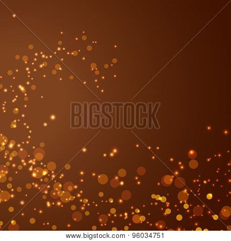 Magical Glittering Christmas Abstract Background