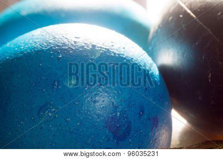 Colored Eggs Macro