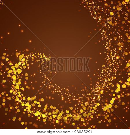 Abstract Magical Shimmering Glow Background