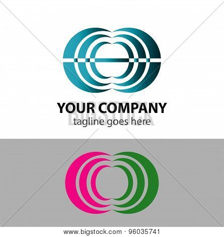 Abstract communication logo sign vector design template.