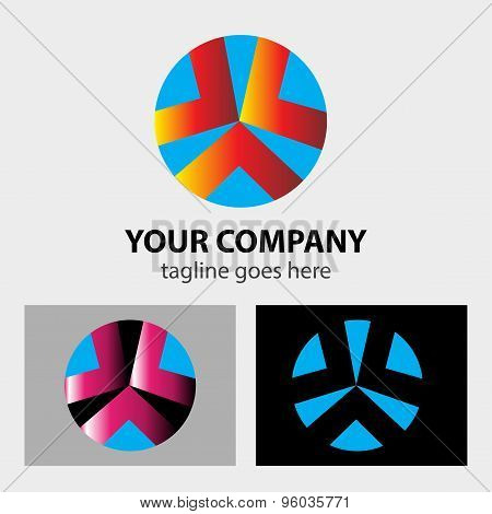 Abstract design element with circle shaped arrow- Focus logo idea