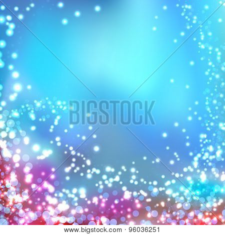 Modern Blurred Abstract Glittering Christmas Background