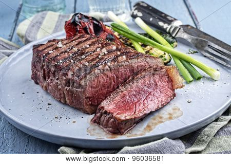 Sirlon Steak on Plate