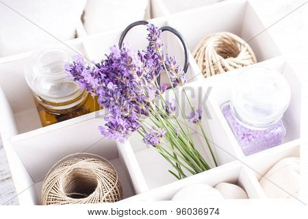 Spa with lavender