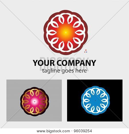 Design round logo element abstract circle icon