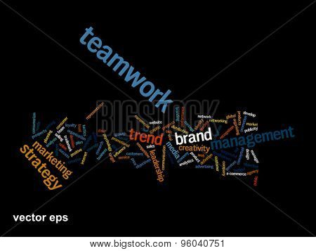 Vector concept or conceptual abstract success word cloud or wordcloud isolated isolated on background
